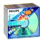 Philips CD-R 52x 700MB / 80min Col SL (20)
