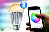 Bluetooth LED lamp 16M kleuren,warm wit, wake-up light (V2)