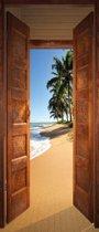 Deur naar Strand  - Fotobehang 91 x 211 cm