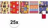 25 rollen Sinterklaas kadopapier - 200 x 70 cm - cadeaupapier / inpakpapier