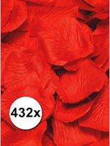 Luxe rode rozenblaadjes 432 stuks