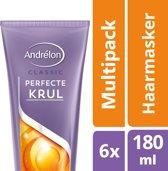 Andrélon Perfecte Krul 1-Minuut Haarmasker - 6 x 180 ml - Voordeelverpakking