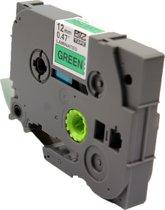KATRIZ® huismerk label tape voor Brother TZe-731| GL-100/PT-1100CH/PT-1700/PT-H100/PT-D200 | Zwart op Groen | 12mm*8m | 1 stuk