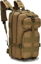 Tactical Backpack – Outdoor Militaire Leger Rugzak Heren – Rugtas Waterdicht voor o.a. Camping, Trekking, Hiking, Wandelen – Dagrugzak 30 liter - Groenbruin