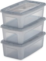 IRIS Clearbox Opbergbox - 5L - Kunststof - Transparant grijs - 3 stuks