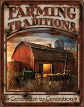 wandbord - farming traditions -30x40cm-