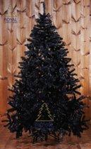 Zwarte Kunstkerstboom Maine - Lengte 210 cm - Kleur Zwart - 1281 Takken