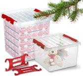 Sunware Q-Line Kerstballen Opbergbox - Voor 125 Kerstballen - Kersthaspel - Transparant