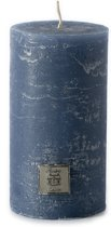 Riviera Maison - Rustic Candle mid blue 7x13 - Kaars - Blauw - Paraffine