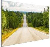 Seesaw weg in Finland Aluminium 60x40 cm - Foto print op Aluminium (metaal wanddecoratie)