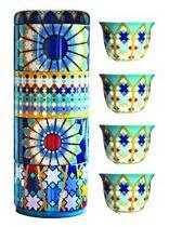 Images d'Orient Sursock Vitrail set van 4 kopjes 60 ml in fraai geschenkblik