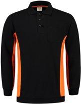 Tricorp Bi-Color Polo/Sweater - Workwear - 302001 - Zwart-Oranje - maat XL