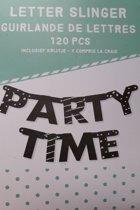 """Letter slinger """"Party time."""""""
