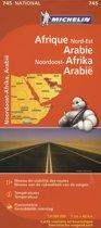 MICHELIN WEGENKAART 745 NOORDOOST AFRIKA, ARABIE