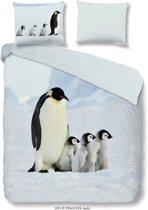 Good Morning 2051-P Pinguin - dekbedovertrek - lits jumeaux - 240x200/220 cm  - 100% katoen - multi