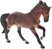 Free And Easy Paard 16cm Donkerbruin/wit
