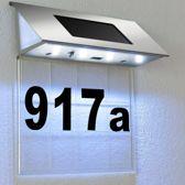 Huisnummer, transparante achtergrond, ledverlichting, zonne energie, solar
