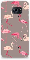 Samsung Galaxy S7 Edge Hardcase Hoesje Flamingo
