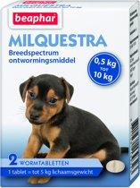 Beaphar Milquestra Kleine Hond/Puppy - Ontwormingsmiddel - 2 Tabletten