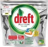 Dreft Platinum - All in One Vaatwastabletten Orange - 22 Capsules