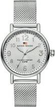 River Woods RW340005 Vermillion horloge Vrouwen - Zilverkleurig - RVS 34 mm