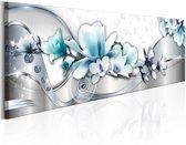 Schilderij - Winter Orchidee