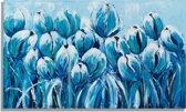 Schilderij Tulpenveld