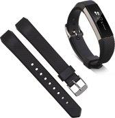 Bandje Voor Fitbit Alta - Siliconen Armband / Polsband / Strap Band / Sportband - Zwart