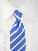 Stropdas blauw/wit strepen