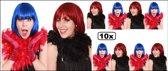10x Boa brandveilig rood en zwart 180cm