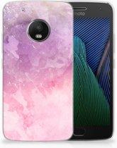 Motorola Moto G5 Plus TPU Hoesje Design Pink Purple Paint