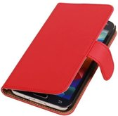 Rood Samsung Galaxy S5 Book Wallet Case Hoesje