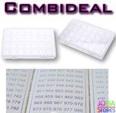 """Diamond Painting """"JobaStores®"""" Sorteerdoos Combideal 28 slots (2 stuks + DMC stickers)"""