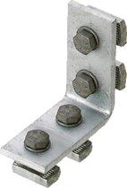ERIC hoekverbinder montagerail ERISTRUT\xae, staal, (lxb) 102x86mm
