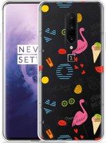 OnePlus 7 Pro Hoesje Summer Flamingo