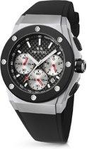 TW Steel CEO Tech CE4019- Horloge - David Coulthard  - 44 mm - Zwart
