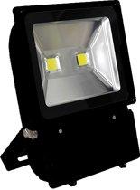 Led floodlight / schijnwerper 100 watt koud licht zwarte behuizing