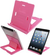Invouwbaar Tablet Dock - Film standaard voor iPad en Samsung Tab Serie - Roze