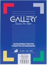 6x Gallery witte etiketten 105x37mm (bxh), rechte hoeken, doos a 1.600 etiketten
