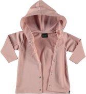 Capuchon vest oud roze (lang) 98/104