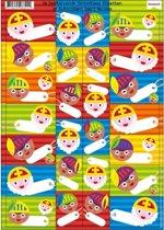 Sinterklaas cadeau stickers 26 stuks