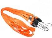 Keykoord Oranje - Keycords Metalen haak - Set 50 Stuks - Keykoords / Lanyards - Oranje - Keycord