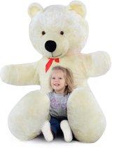 Grote knuffelbeer 2 meter wit 205 cm XXL