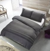 The Supreme Home Collection Avenza Antraciet Maat: Lits-jumeaux (240 x 220 cm + 2 kussenslopen)
