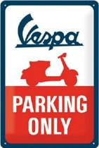 Wandbord - VESPA parking only -20x30-