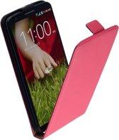 LELYCASE Premium Flip Case Lederen Cover Bescherm  Hoesje Sony Xperia P Pink