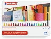 edding 1200 color pebn metal box 20 stuks