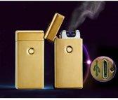 Elektrische aansteker - Elektronische sigarettenaansteker - Elektronische aansteker - Windbestendig - Oplaadbaar - Goud - DisQounts