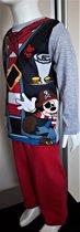 Mickey Mouse pyama piraat grijs maat 92/98