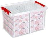 Sunware Q-line Kerst Opbergbox 62L - trays voor 116 kerstballen